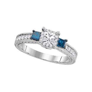 Wedding Bridal Engagement Ring 1 Cttw 14KT White Gold
