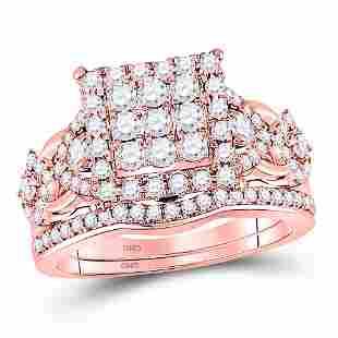 Diamond Bridal Wedding Ring Band Set 1-1/4 Cttw 14KT