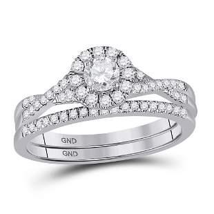 Diamond Bridal Wedding Ring Band Set 5/8 Cttw 14KT