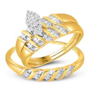 Ring Band Set 10KT Yellow Gold