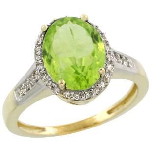 2.60 CTW Aquamarine & Diamond Ring 10K Yellow Gold -