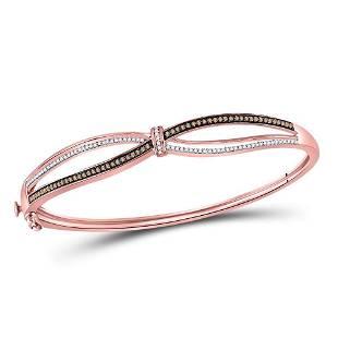 Round Brown Diamond Fashion Bangle Bracelet 1/2 Cttw