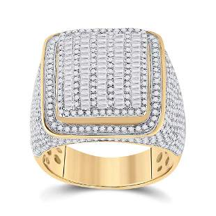 Baguette Diamond Square Ring 2-1/2 Cttw 14KT Yellow