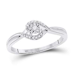 Round Diamond Solitaire Promise Ring 1/10 Cttw 10KT