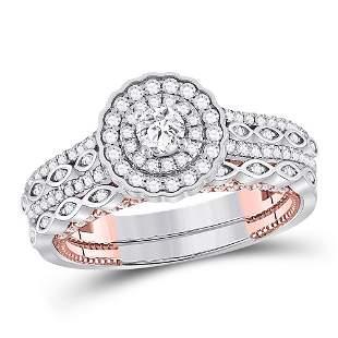 Diamond Bridal Wedding Ring Band Set 1 Cttw 14KT