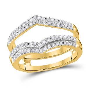 Round Diamond Wedding Band Ring Guard Enhancer 1/2 Cttw