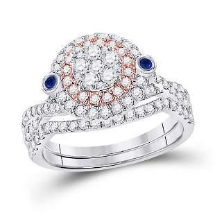 Diamond Bridal Wedding Ring Band Set 1 Cttw 10KT