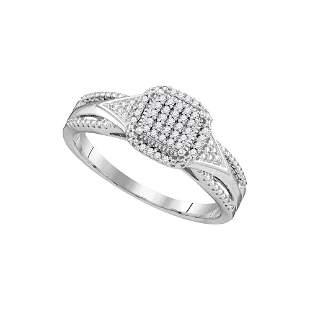 Diamond Cluster Bridal Wedding Engagement Ring 1/10