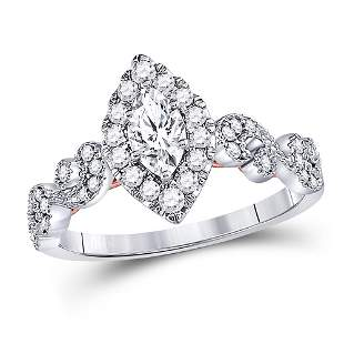 Solitaire Bridal Wedding Engagement Ring 3/4 Cttw 14KT