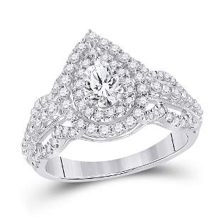 Solitaire Bridal Wedding Engagement Ring 1-1/3 Cttw