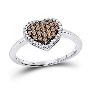 Heart Ring 1/3 Cttw 10KT White Gold