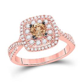 Brown Diamond Solitaire Bridal Wedding Engagement Ring