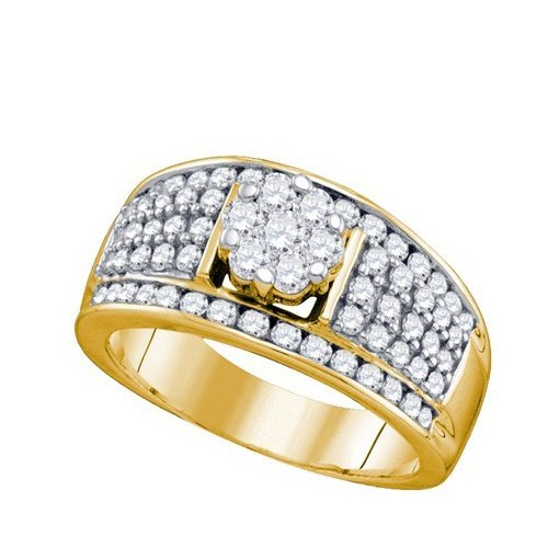 Genuine 10K Yellow Gold Jewelry 1.2 ctw Diamond Ladies