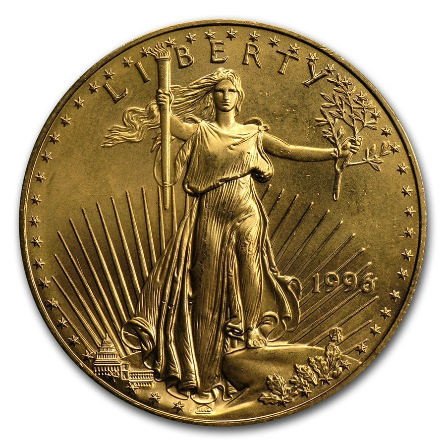 One 1996 1 oz Gold American Eagle BU