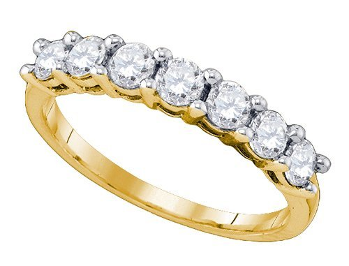 Genuine 10K Yellow Gold Jewelry 0.99 ctw Diamond Ladies