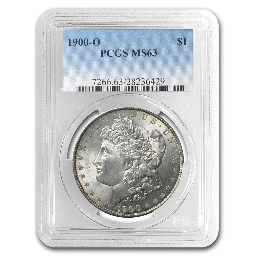 One 1900-O Morgan Dollar MS-63 PCGS