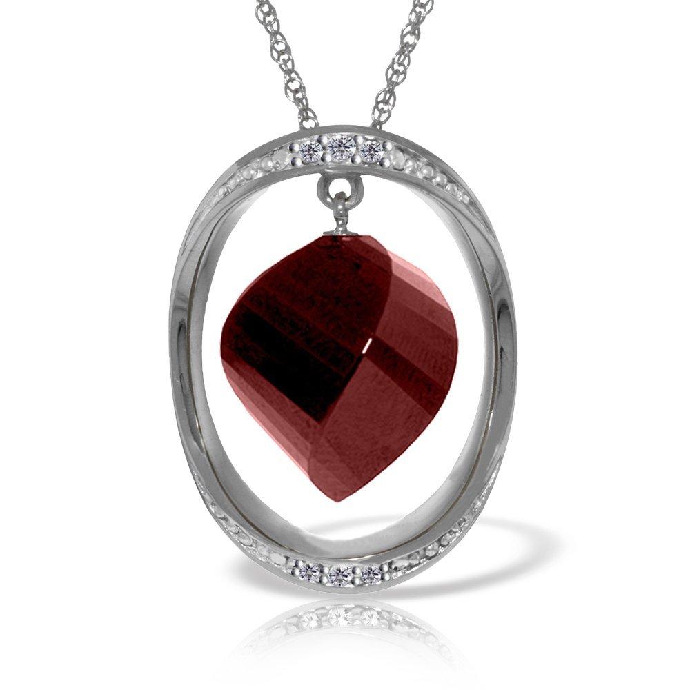 Genuine 15.35 ctw Ruby & Diamond Necklace Jewelry 14KT