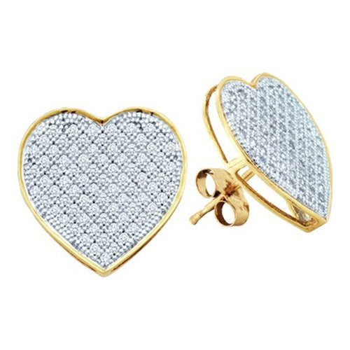 10K White Gold Jewelry 0.20 ctw Diamond Earrings -