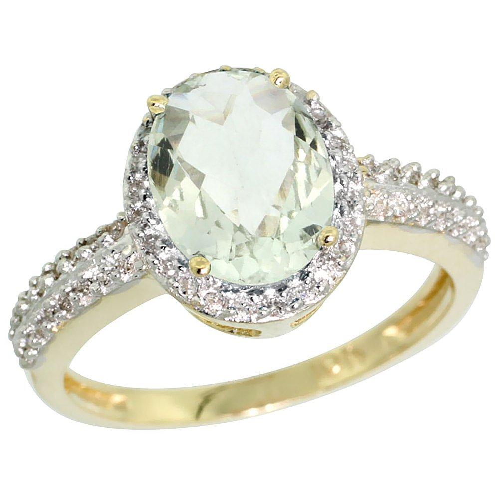 Natural 1.91 ctw Green-amethyst & Diamond Engagement
