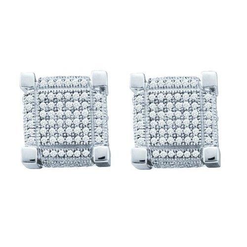10K Yellow Gold Jewelry 1.05 ctw Diamond Earrings -