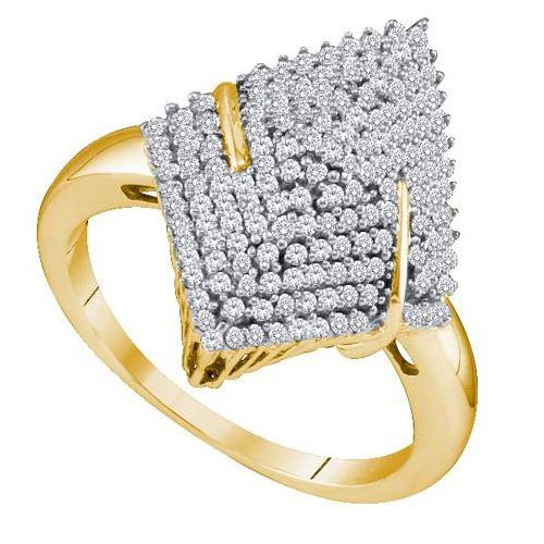 10K Yellow Gold Jewelry 0.50 ctw Diamond Ladies Ring -