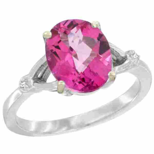 Natural 2.41 ctw Pink-topaz & Diamond Engagement Ring