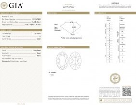 2.01ct G/vvs2 Oval Gia Certified Diamond