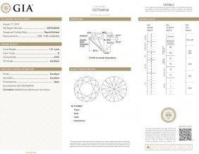 1.51ct D/vvs2 Brilliant Round Cut Gia Certified Diamond