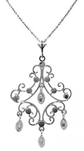 Genuine 0.02 Ctw Diamond Anniversary Necklace Jewelry