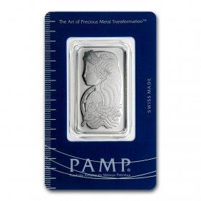 One Pc. 1 Oz 0.9995 Fine Platinum Bar - Pamp Suisse W/
