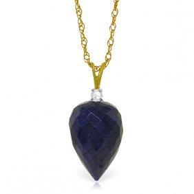 Genuine 12.95 Ctw Sapphire & Diamond Necklace Jewelry