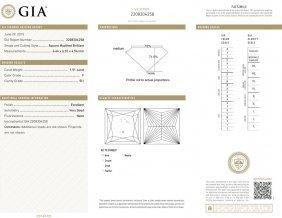 1.51ct F/si1 Princess Cut Gia Certified Diamond