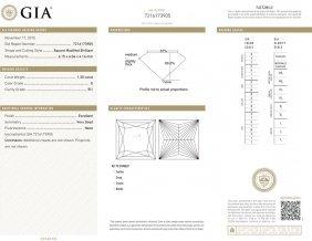 1.30ct E/si1 Princess Cut Gia Certified Diamond