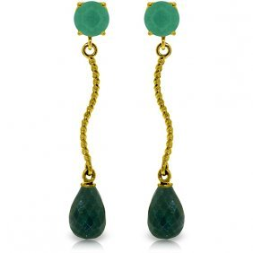 Genuine 7.9 Ctw Emerald & Green Sapphire Corundum