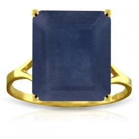 Genuine 7 Ctw Sapphire Ring Jewelry 14kt Yellow Gold -