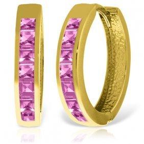 Genuine 1.85 Ctw Pink Sapphire Earrings Jewelry 14kt