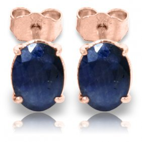 Genuine 2 Ctw Sapphire Earrings Jewelry 14kt Rose Gold