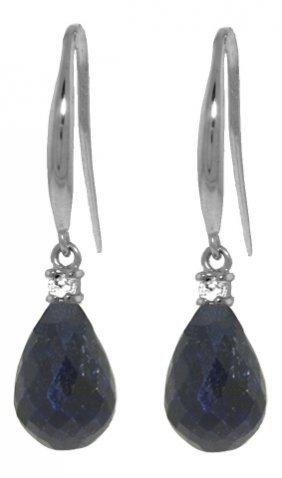 Genuine 6.7 Ctw Sapphire & Diamond Earrings Jewelry