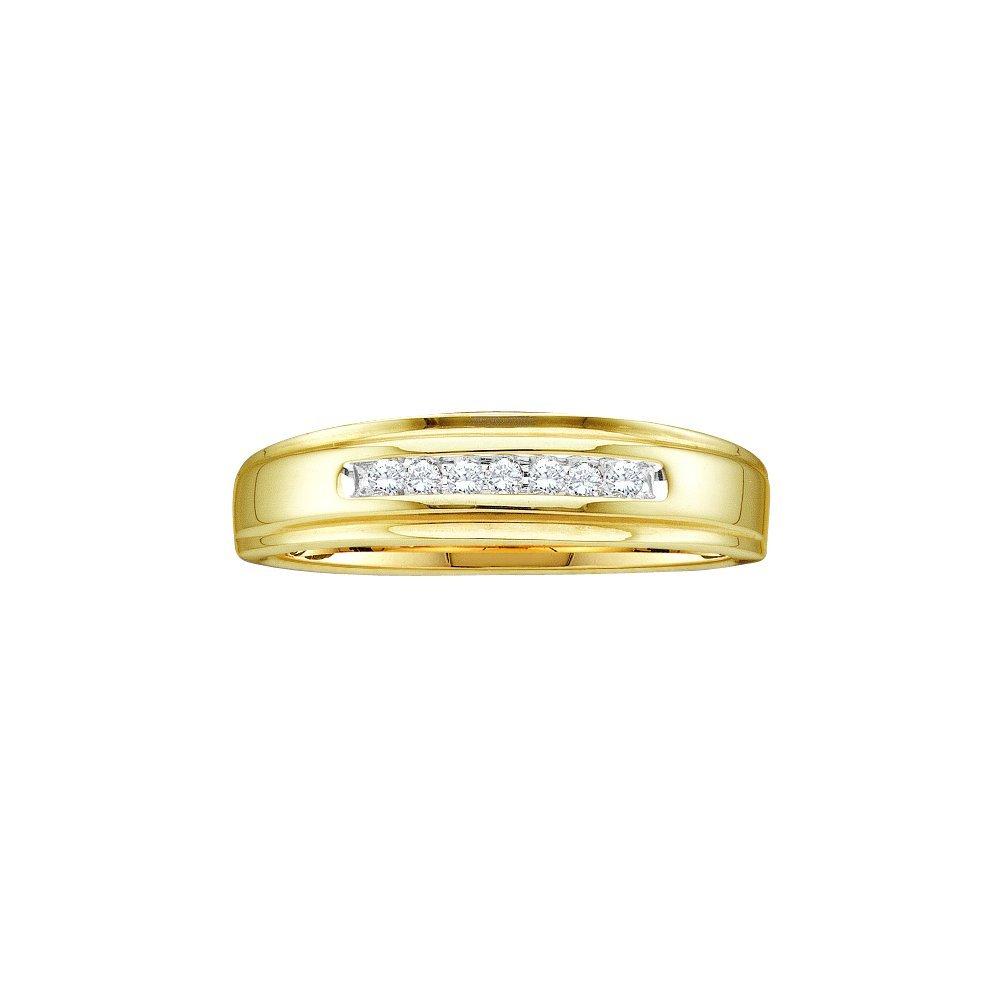 0.08 CTW Diamond Men's Ring 10KT Yellow Gold -
