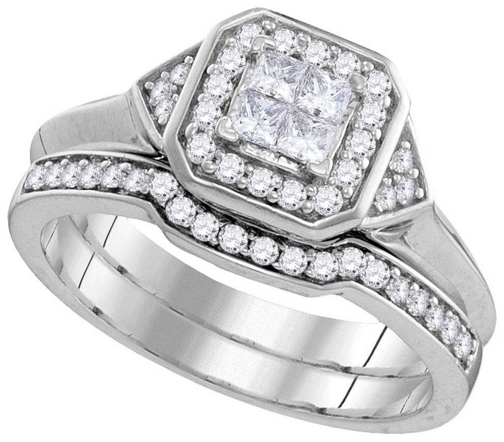0.5 CTW Diamond Ladies Ring 10KT White Gold -