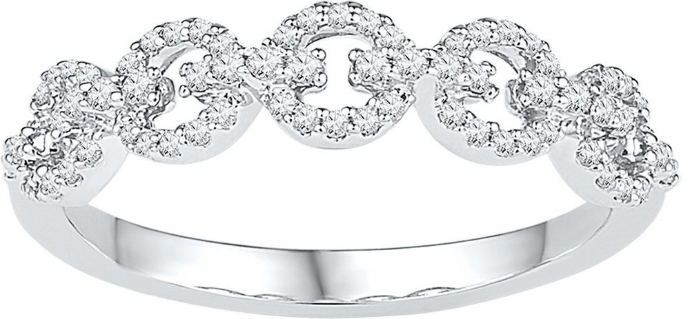 0.25 CTW Diamond Ladies Ring 10KT White Gold -