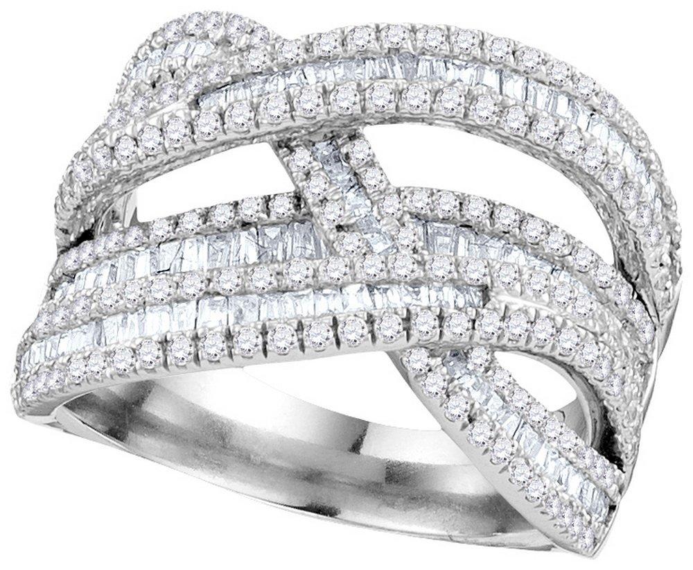 1.85 CTW Diamond Ladies Ring 10KT White Gold -