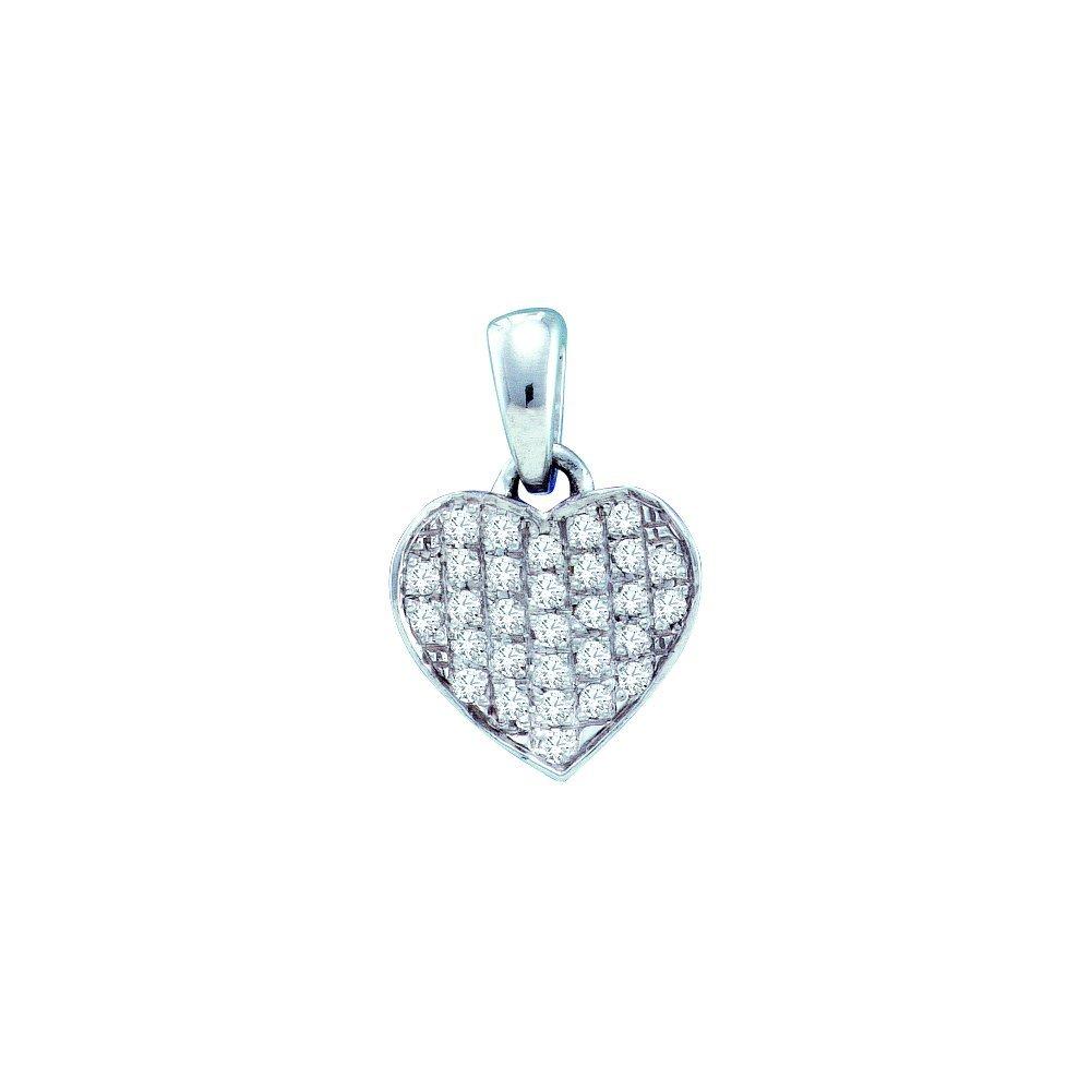 0.1 CTW Diamond Pendant 10KT White Gold -