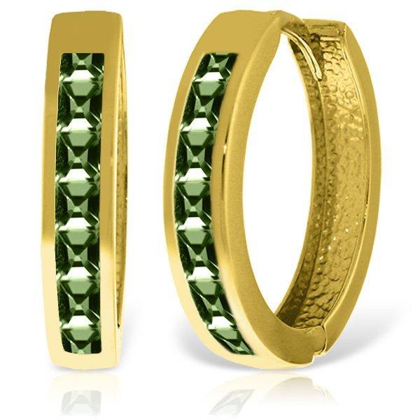 Genuine 1.85 ctw Green Sapphire Earrings Jewelry 14KT