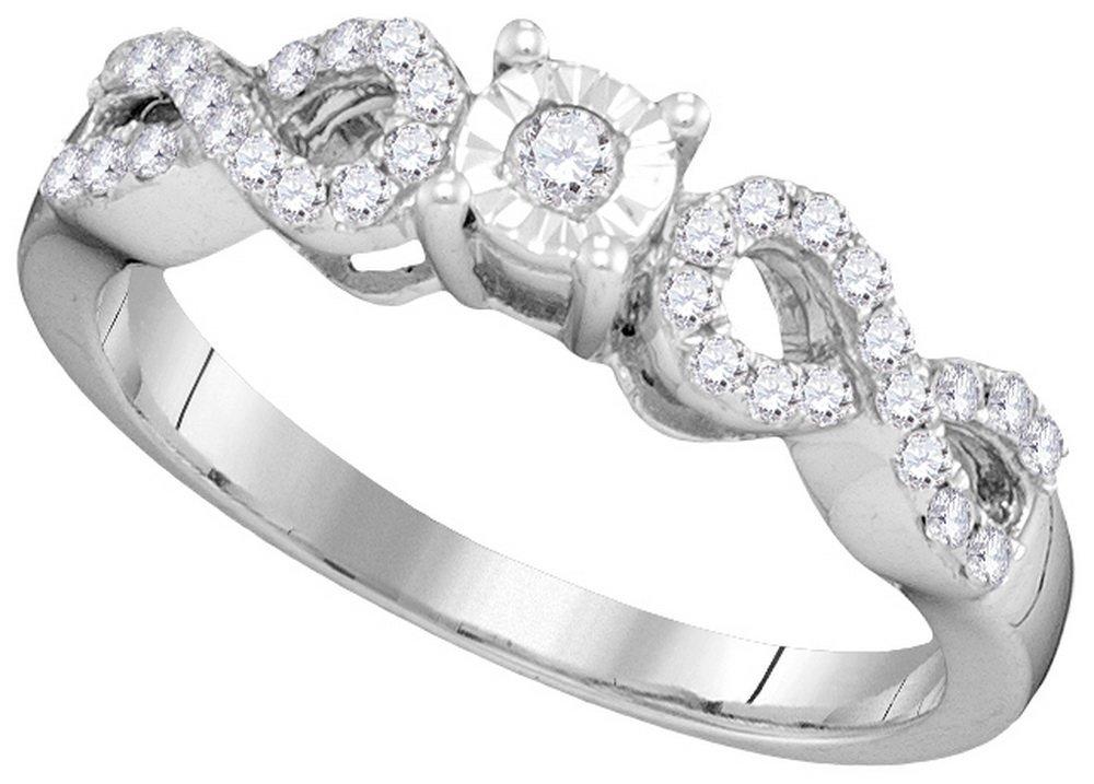 0.25 CTW Diamond Bridal Ring 10KT White Gold -