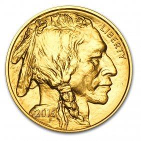 One Pc. 2015 1 Oz .9999 Fine Gold Buffalo Brilliant