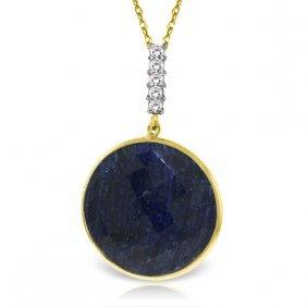 Genuine 23.08 Ctw Sapphire & Diamond Necklace Jewelry
