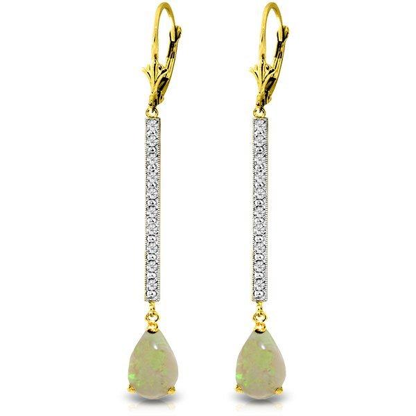 Genuine 1.64 ctw Opal & Diamond Earrings Jewelry 14KT
