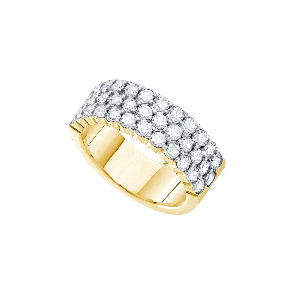 3 CTW Diamond Ladies Ring 14KT Yellow Gold -