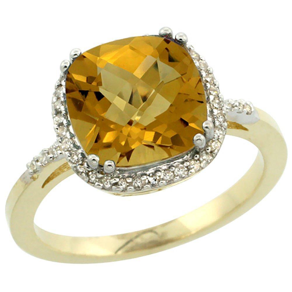 Natural 4.11 ctw Whisky-quartz & Diamond Engagement
